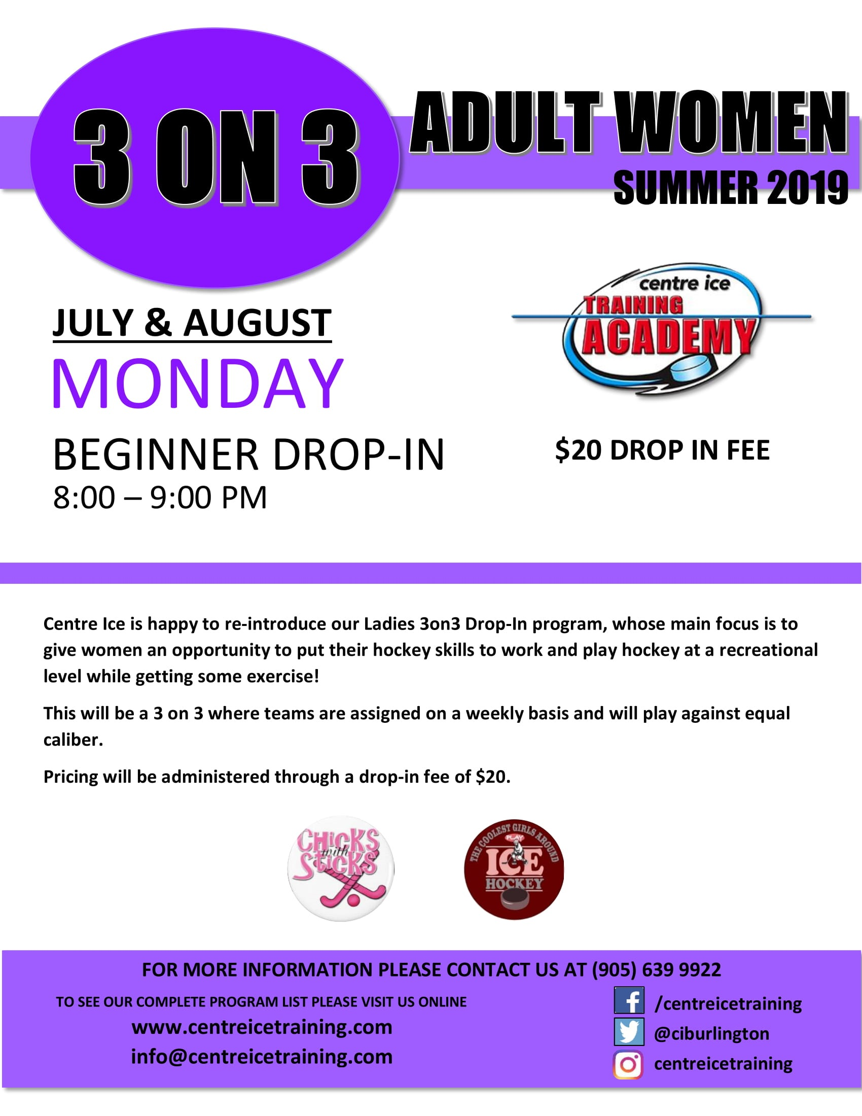 3 on 3 Ladies Drop In